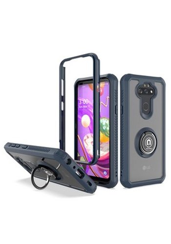 Hybrid Shockproof Clear Transparent Case with 360 Magnetic Ring Stand for LG Aristo 5
