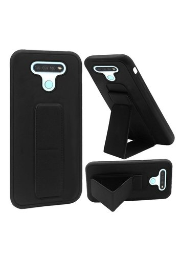 Premium PC TPU Foldable Magnetic Kickstand Case for LG K51