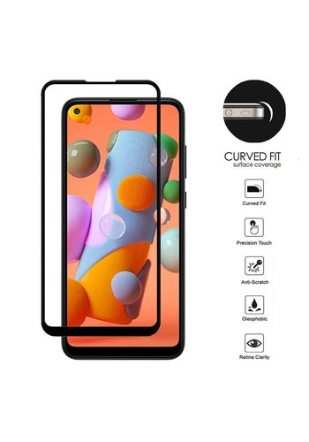 4D Full Cover Tempered Glass for Galaxy A11