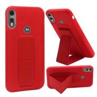 Premium PC TPU Foldable Magnetic Kickstand Case for Motorola Moto E (2020)