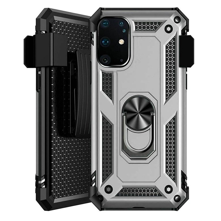 Combo Hybrid Case with 360 Magnetic Ring Stand & Holster Clip for Galaxy S20 Plus