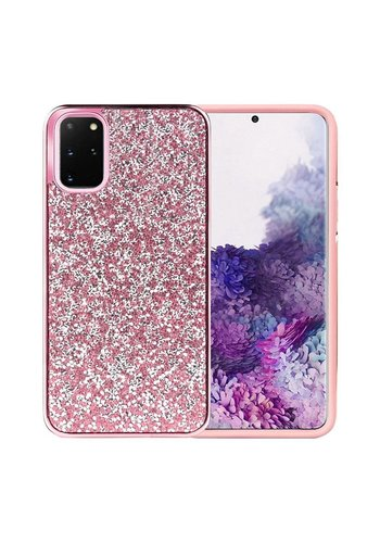 Hybrid PC TPU Deluxe Glitter Diamond Electroplated Case for Galaxy S20