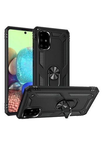 Slim Hybrid PC TPU Magnetic Ring Case for Galaxy A71