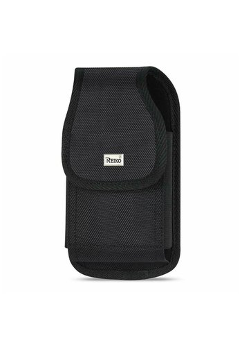 Reiko (inside:   6.44 X 3.49 X 0.73 in) Vertical Rugged Pouch Velcro Closure For Universal Devices (PH02B-643507BK)