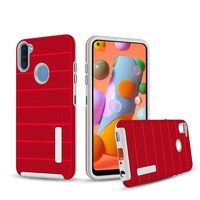 PC TPU Shock Proof Hybrid Case with Stripes Design for Galaxy A11