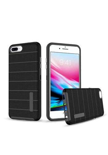 PC TPU Shock Proof Hybrid case with Stripes Design for iPhone 8 Plus / 7 Plus