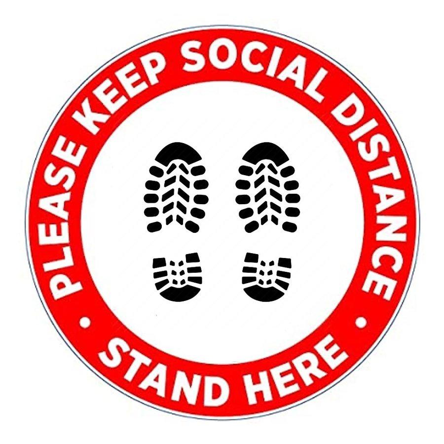Social Distancing Floor Decals (10 Pack)