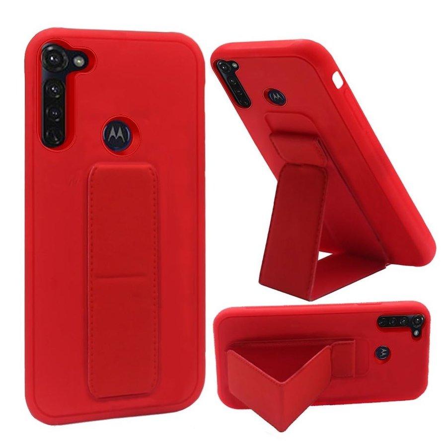 Premium PC TPU Foldable Magnetic Kickstand Case for Motorola Moto G Stylus
