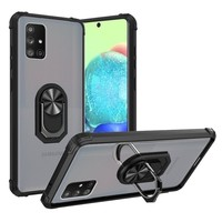 Hybrid Shockproof Clear Transparent Case with 360 Magnetic Ring Stand for Galaxy A71