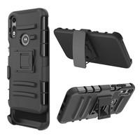 Armor Kickstand Holster Clip Case for Motorola Moto E (2020)
