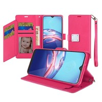 Hybrid PU Leather Metallic Flip Cover Wallet Case with Credit Card Slots for Motorola Moto E (2020)