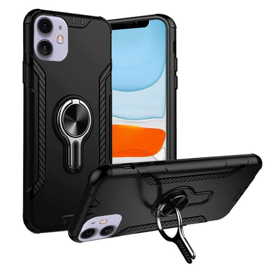ShockProof Mag-Ring Case with Car Vent  Holder for iPhone 11