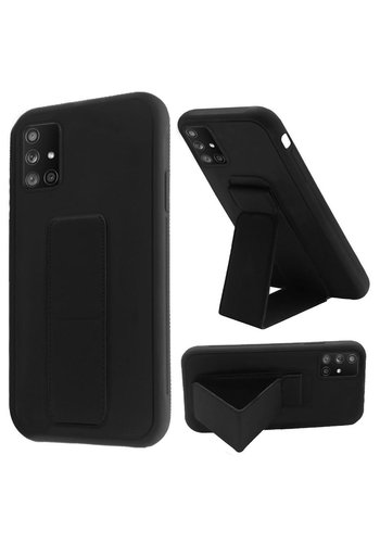Premium PC TPU Foldable Magnetic Kickstand Case for Galaxy A71