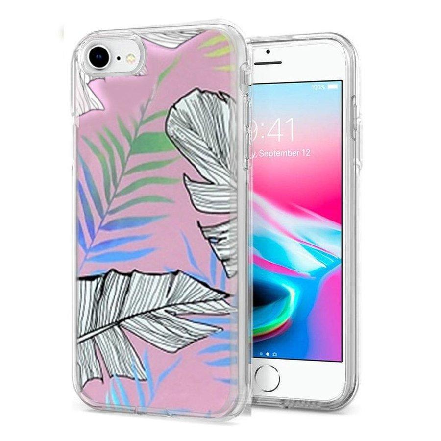 TPU Gel Electroplated Leaf Design Case for iPhone SE (2020) / 8 / 7
