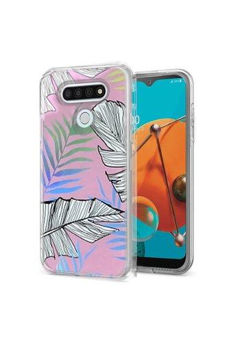 TPU Gel Electroplated Leaf Design Case for LG K51