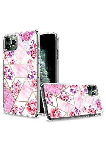 TPU Gel Trendy Electroplated Astonishing Floral Design Case for iPhone 11 Pro