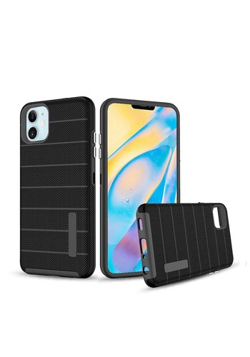PC TPU Shock Proof Hybrid case with Stripes Design for iPhone 12 Mini
