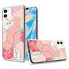 TPU Gel Jewel Electroplated Design Hot Pink  Case for iPhone 12 Mini