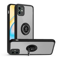 Transparent Hybrid MagRing Case with Camera Cover for iPhone 12 Mini