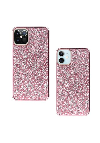 Hybrid PC TPU Deluxe Glitter Diamond Electroplated Case for iPhone 12 / 12 Pro