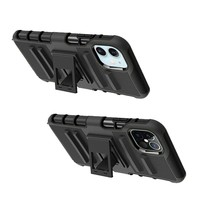 Armor Kickstand Holster Clip Case for iPhone 12 / 12 Pro
