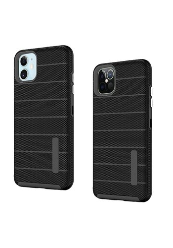 PC TPU Shock Proof Hybrid case with Stripes Design for iPhone 12 / 12 Pro