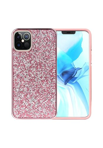 Hybrid PC TPU Deluxe Glitter Diamond Electroplated Case for iPhone 12 Pro Max