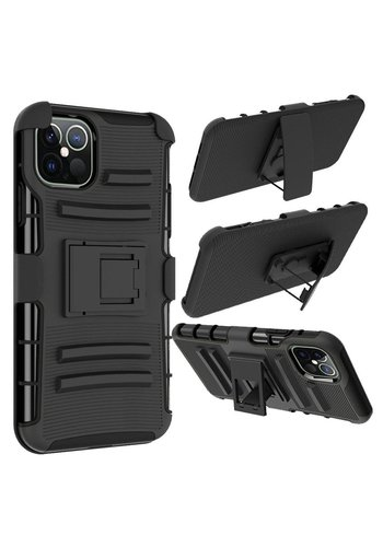 Armor Kickstand Holster Clip Case for iPhone 12 Pro Max