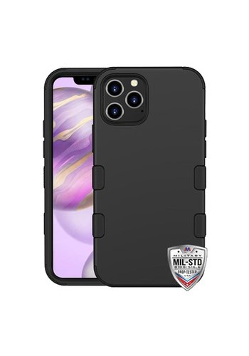MYBAT TUFF Titanium Hybrid Protector Case [Military-Grade Certified] for iPhone 12 Pro Max
