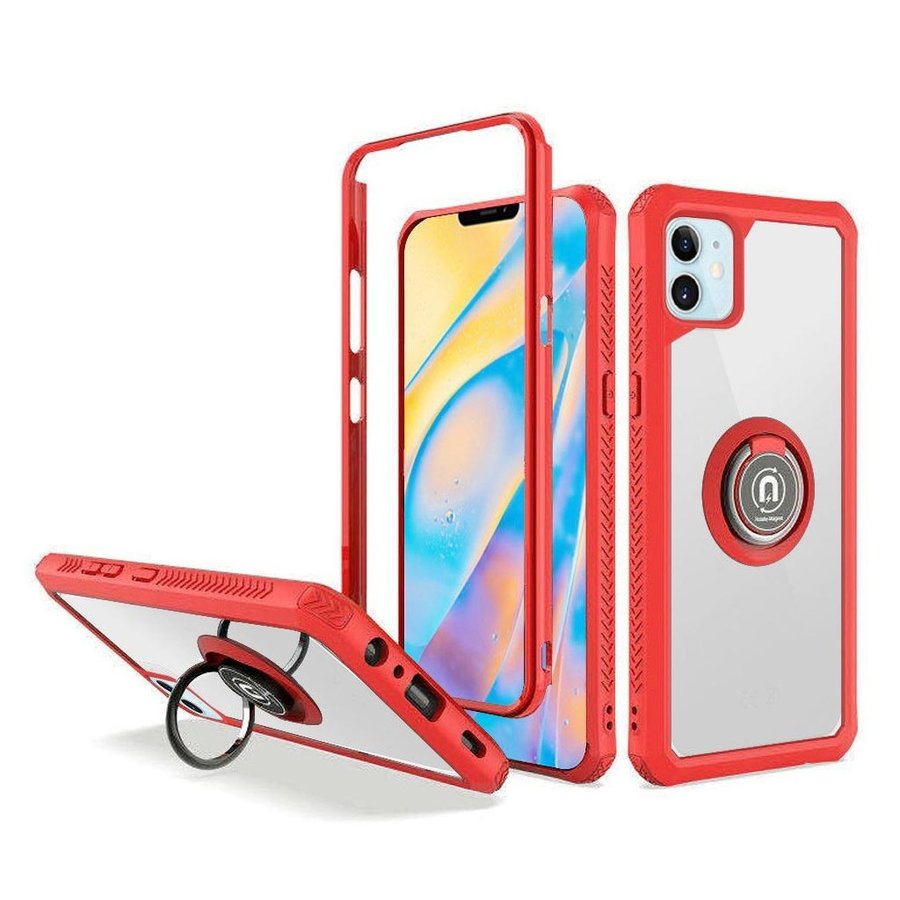 Heavy Duty Shockproof Bumper Case with Mag-Ring for iPhone 12 Mini
