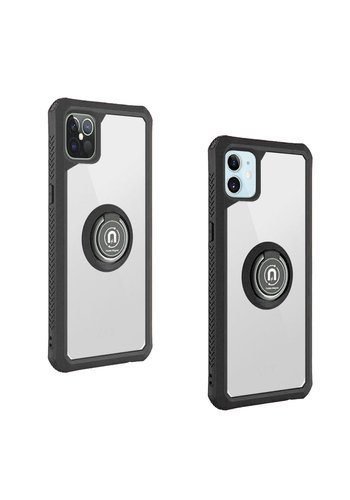 Heavy Duty Shockproof Bumper Case with Mag-Ring for iPhone 12 / 12 Pro