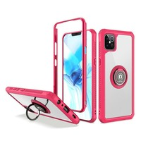 Heavy Duty Shockproof Bumper Case with Mag-Ring for iPhone 12 Pro Max