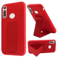 Premium PC TPU Foldable Magnetic Kickstand Case for Motorola Moto G Fast