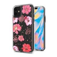 Transparent Flowers Print Design Case for iPhone 12 Mini