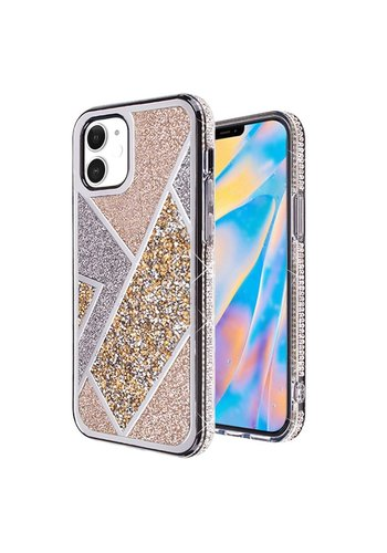 Rhombus Glitter Diamond Design Case for iPhone 12 Mini