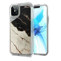 TPU Gel Electroplated Marble Design Case for iPhone 12 Pro Max