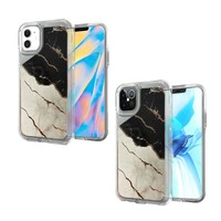 TPU Gel Electroplated Marble Design Case for iPhone 12  / 12 Pro