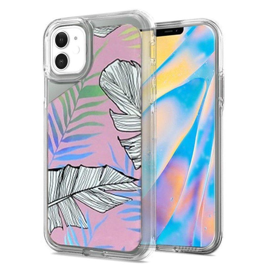 TPU Gel Electroplated Leaf Design Case for iPhone 12 Mini