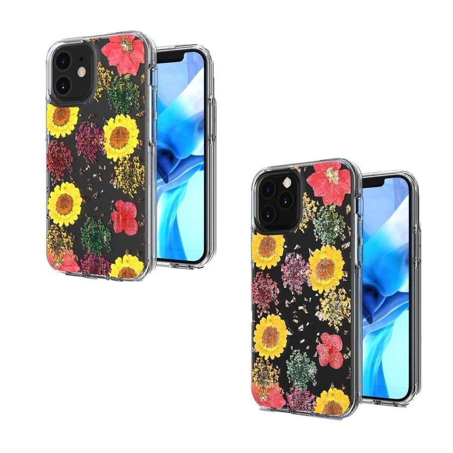 Transparent Botanic Flowers Design Case for iPhone 12 / 12 Pro