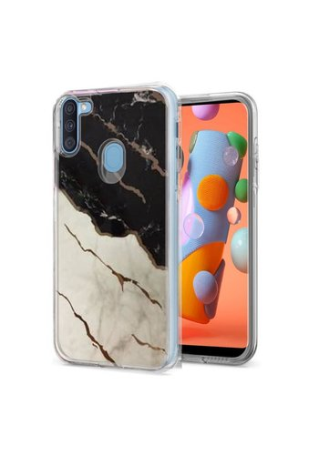 TPU Gel Electroplated Marble Design Case for Galaxy A11