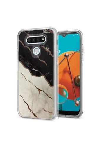 TPU Gel Electroplated Marble Design Case for LG K51