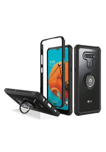 Heavy Duty Shockproof Bumper Case with Mag-Ring for LG K51