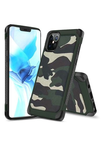 PC TPU Hard Bumper Case with Camouflage Design for iPhone 12 Pro Max