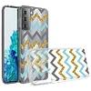 KASEAULT | Transparent ShockProof ZigZag Design Case for Galaxy S21 Plus