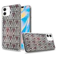 TPU Gel Electroplated Geometric Design Case for iPhone 12 Mini