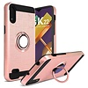 PC TPU Embossed Line Design Case with Magnetic Ring for LG K22