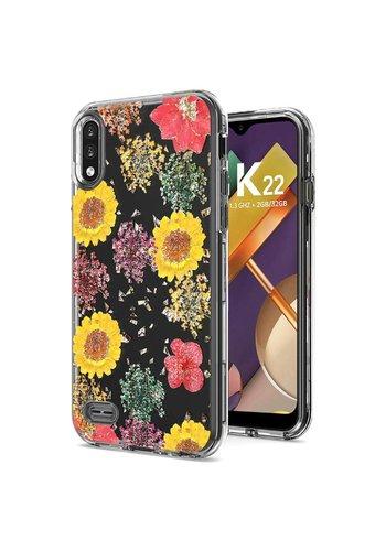 Transparent Botanic Flowers Design Case for LG K22