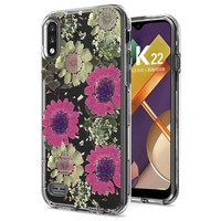 Transparent Pink Daisy Design Case for LG K22