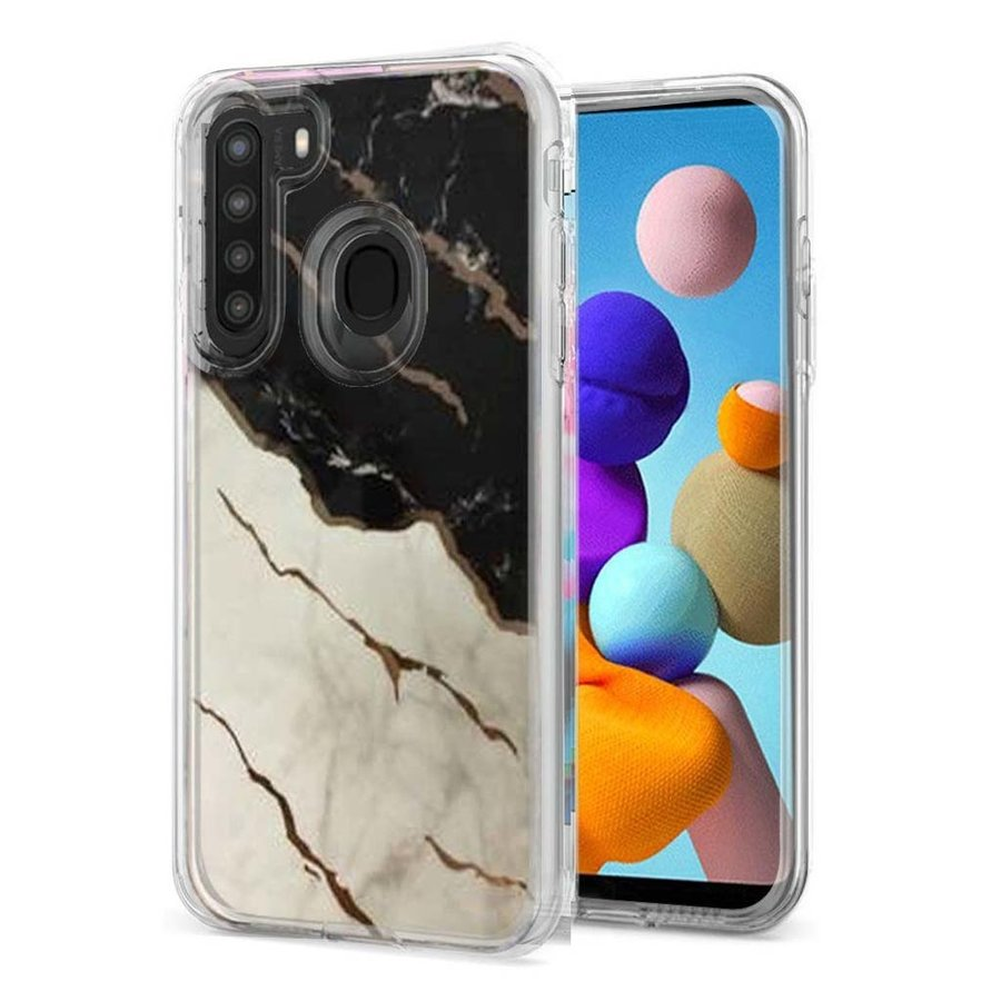 TPU Gel Electroplated Marble Design Case for Galaxy A21