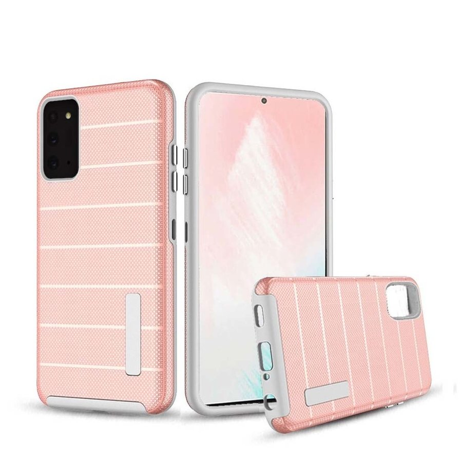 PC TPU Shock Proof Hybrid Case with Stripes Design for Galaxy Note 20